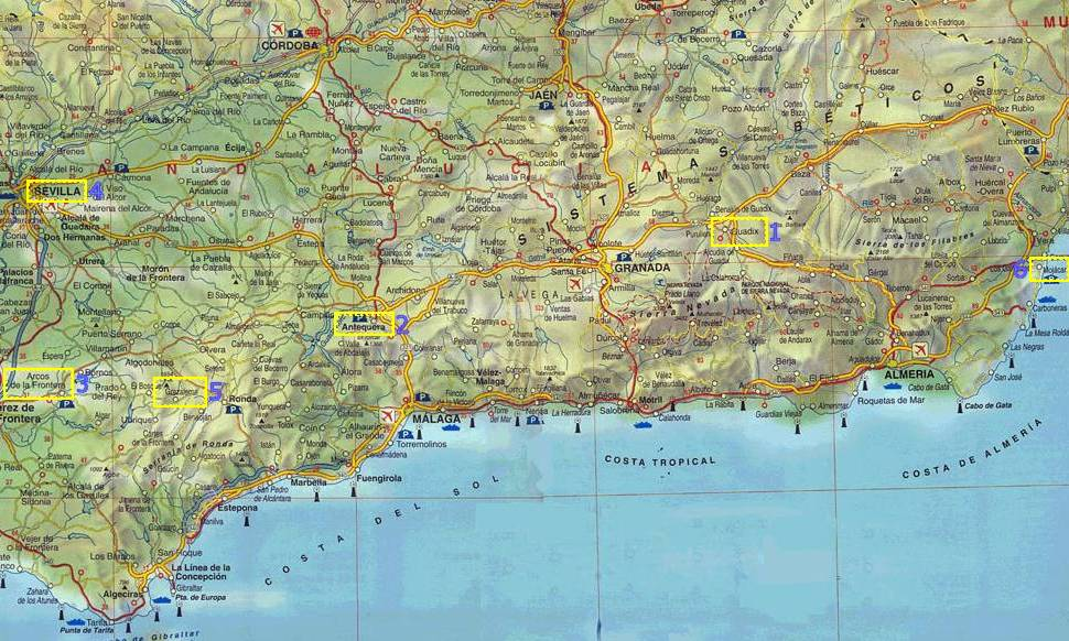 Andalusia Andalusia Travel Map - Map of andalusia