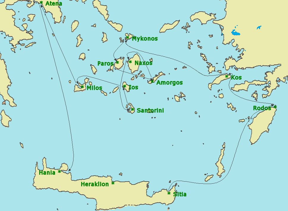 ios grcka mapa Greece • Route map ios grcka mapa